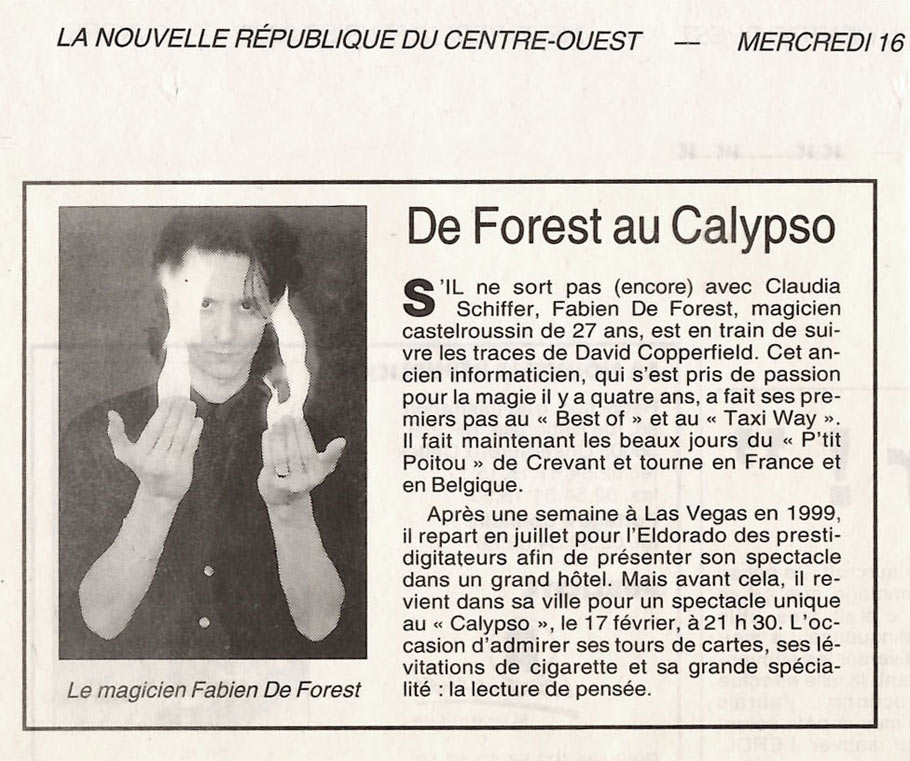 article fabien de forest